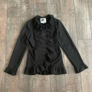 KUT From the Kloth Ruffle Button Down Jacket